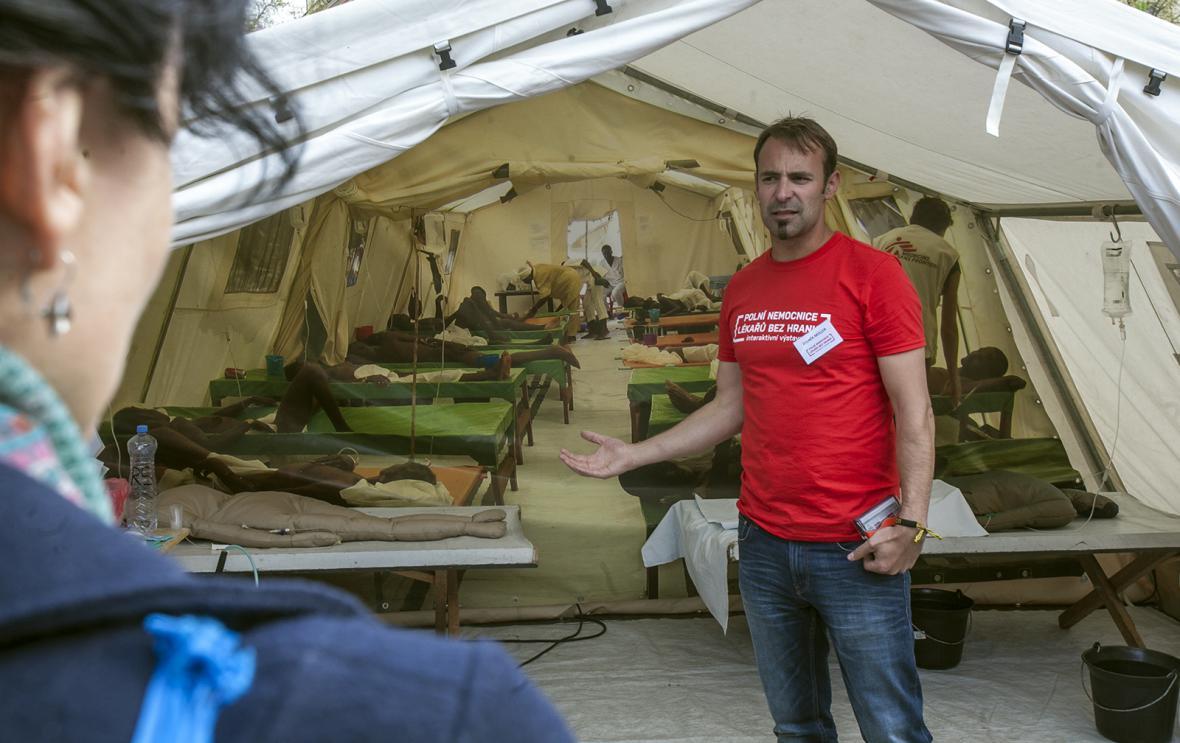 Polní nemocnice Lékařů bez hranic na náměstí Míru