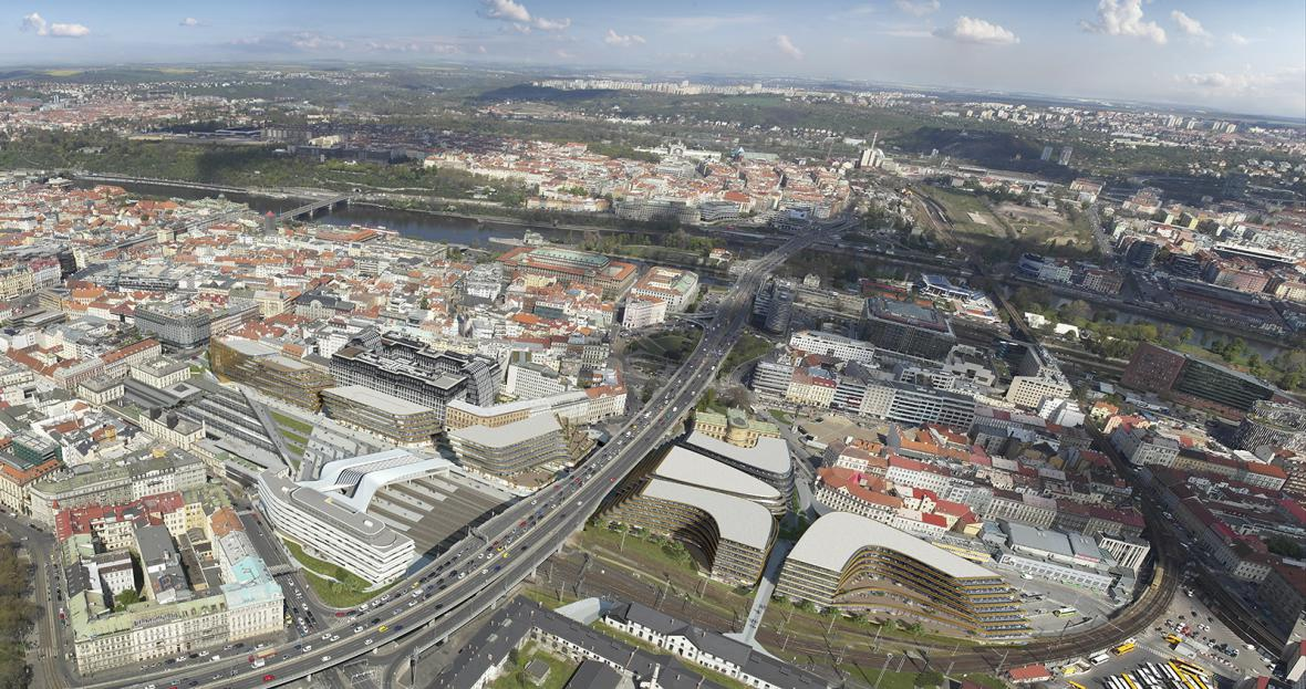 Klon z Ze zanedbaného prostoru mezi Masarykovým nádražím a autobusovým nádražím Florenc na Praze 1 by se měla do pěti let stát nejvýznamnější obchodní a dopravní křižovatka v hlavním městě.