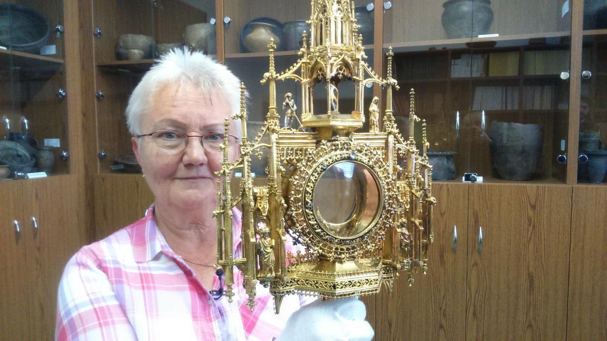 Monstrance je jeden z originálních předmětů, které budou vystaveny na Pražském hradě