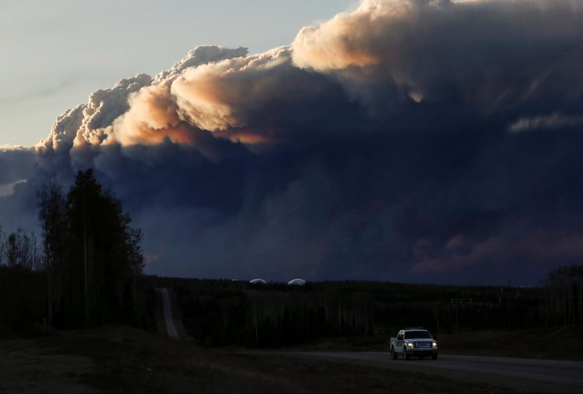 Mohutný požár v Kanadě