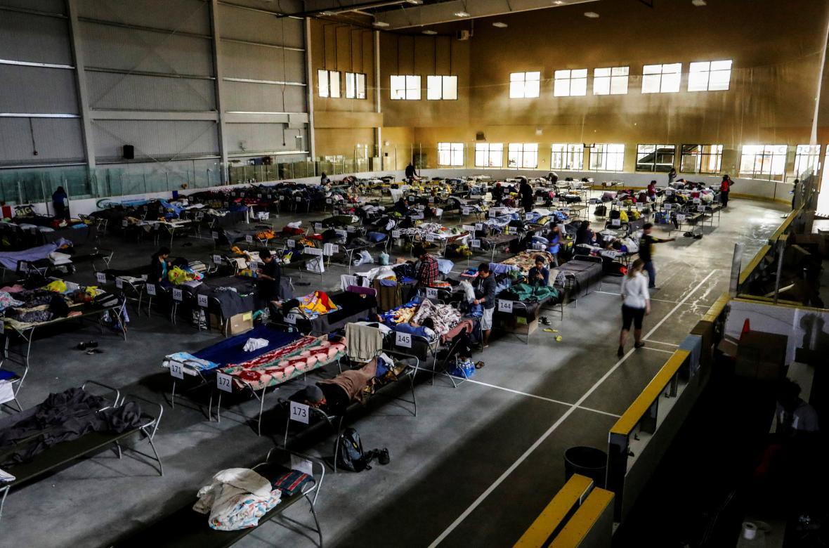 Evakuovaní obyvatelé Fort McMurray