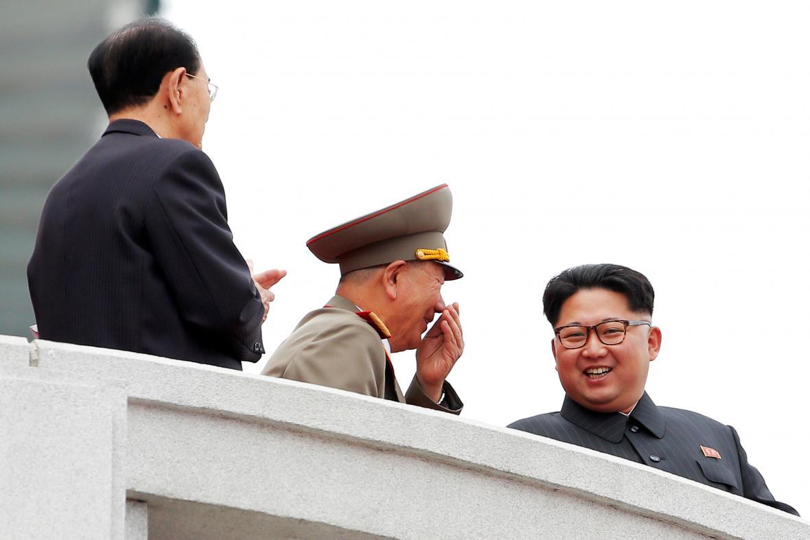 Průvod v severokorejské metropoli