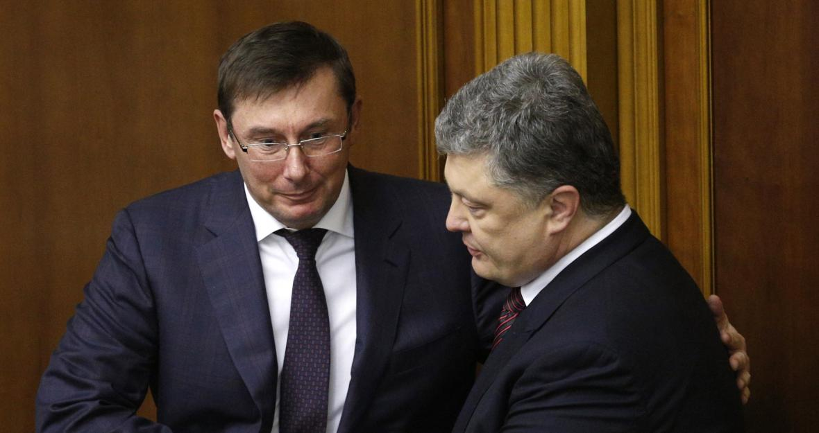 Jurij Lucenko s prezidentem Porošenkem