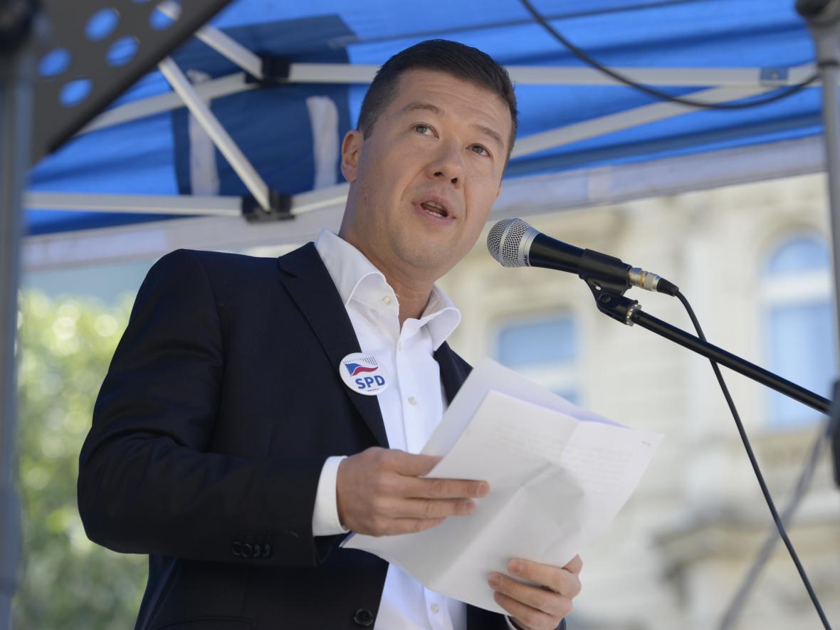 Předseda hnutí Svoboda a přímá demokracie Tomio Okamura