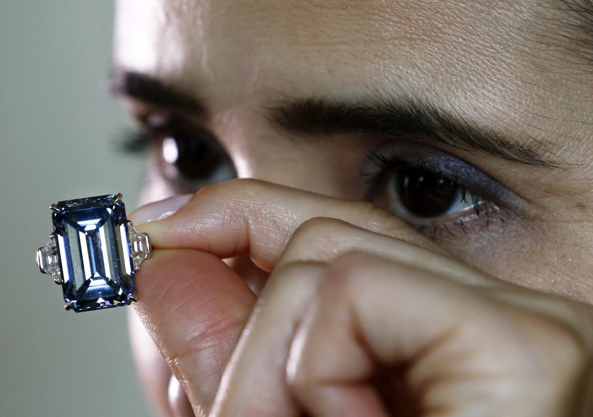 Diamant Oppenheimer Blue jde do dražby