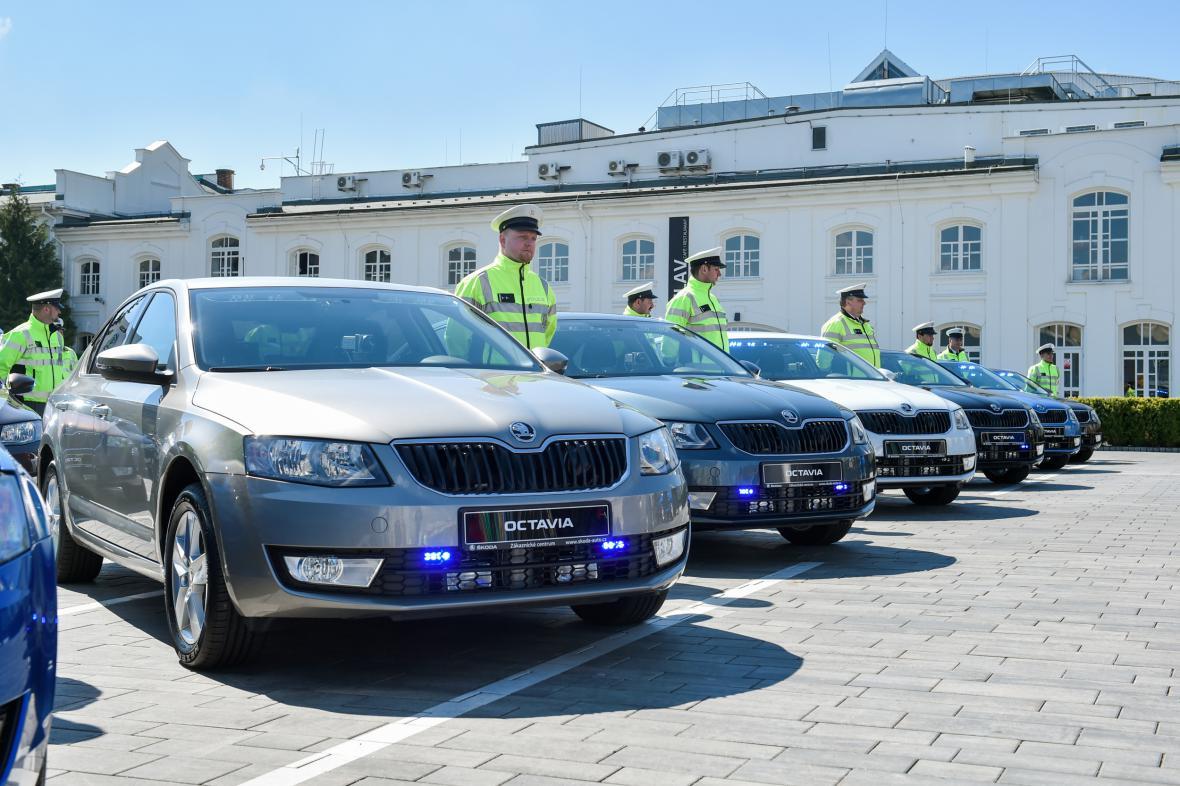 Nové policejní vozy značky Škoda Octavia