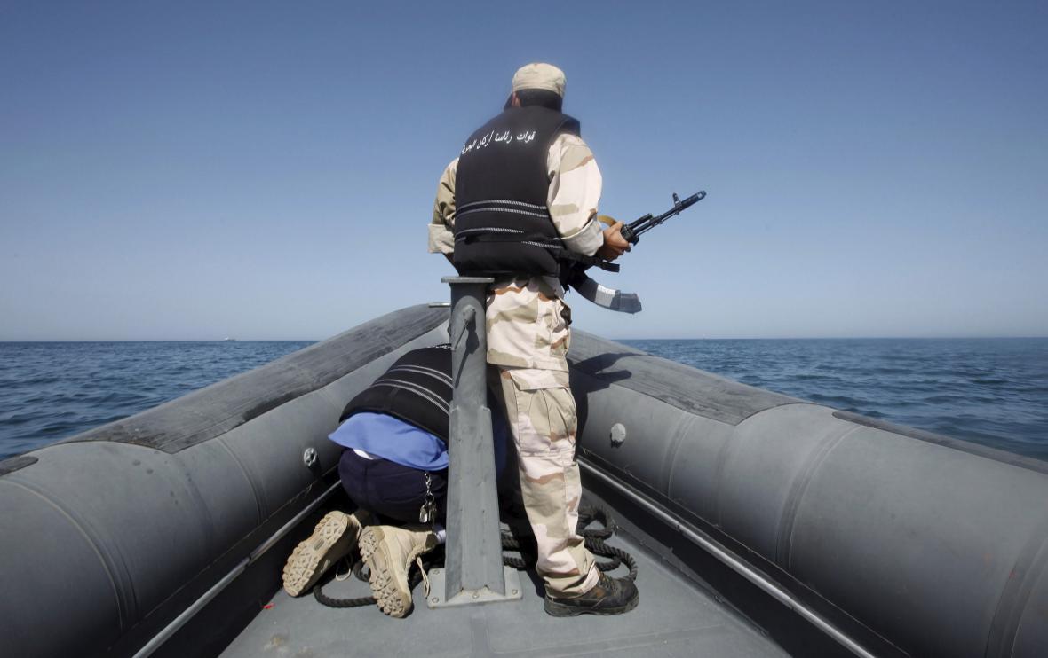 Člen libyjské námořní stráže