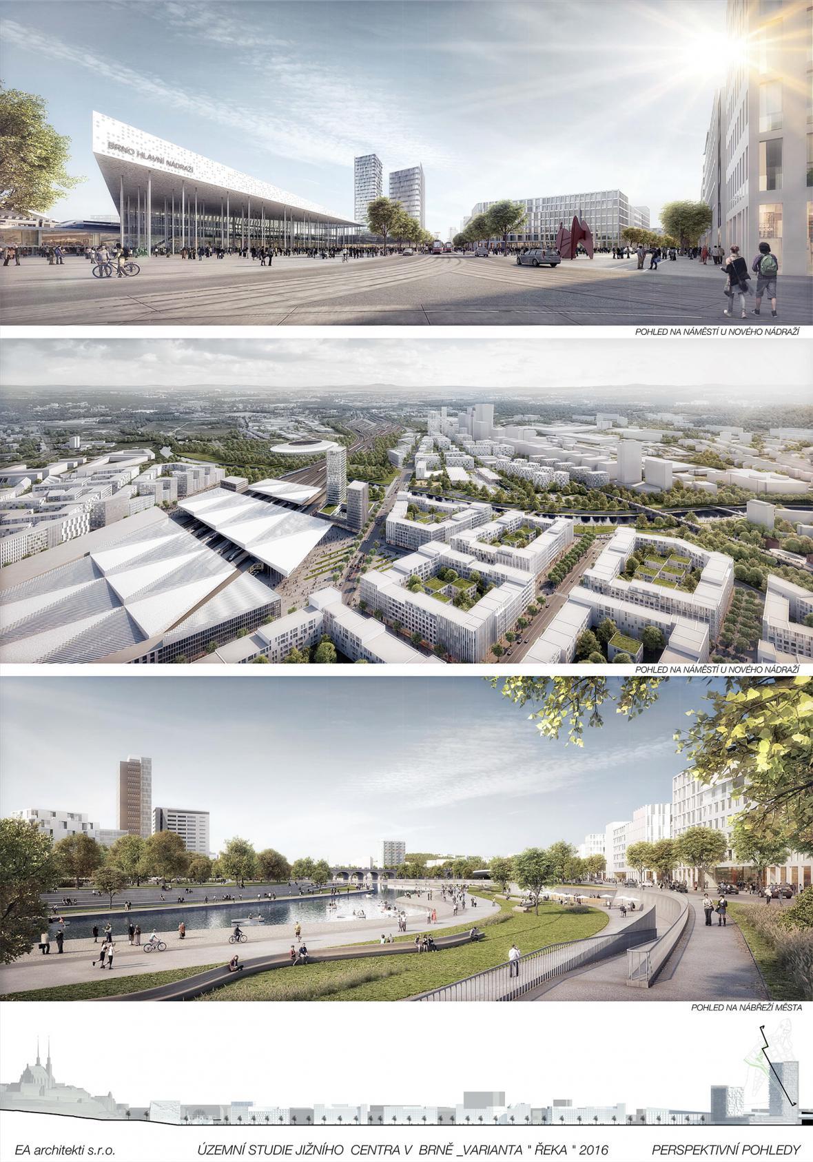 Návrhy na odsunuté brněnské nádraží