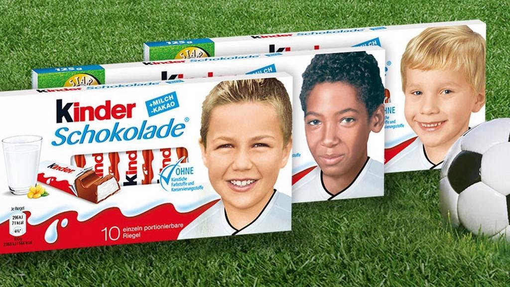Německé Kinder čokolády před fotbalovým mistrovstvím Evropy