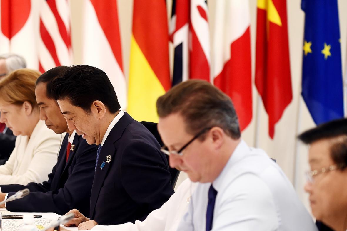 David Cameron na summitu zemí G7 v japonské Ise-Šimě