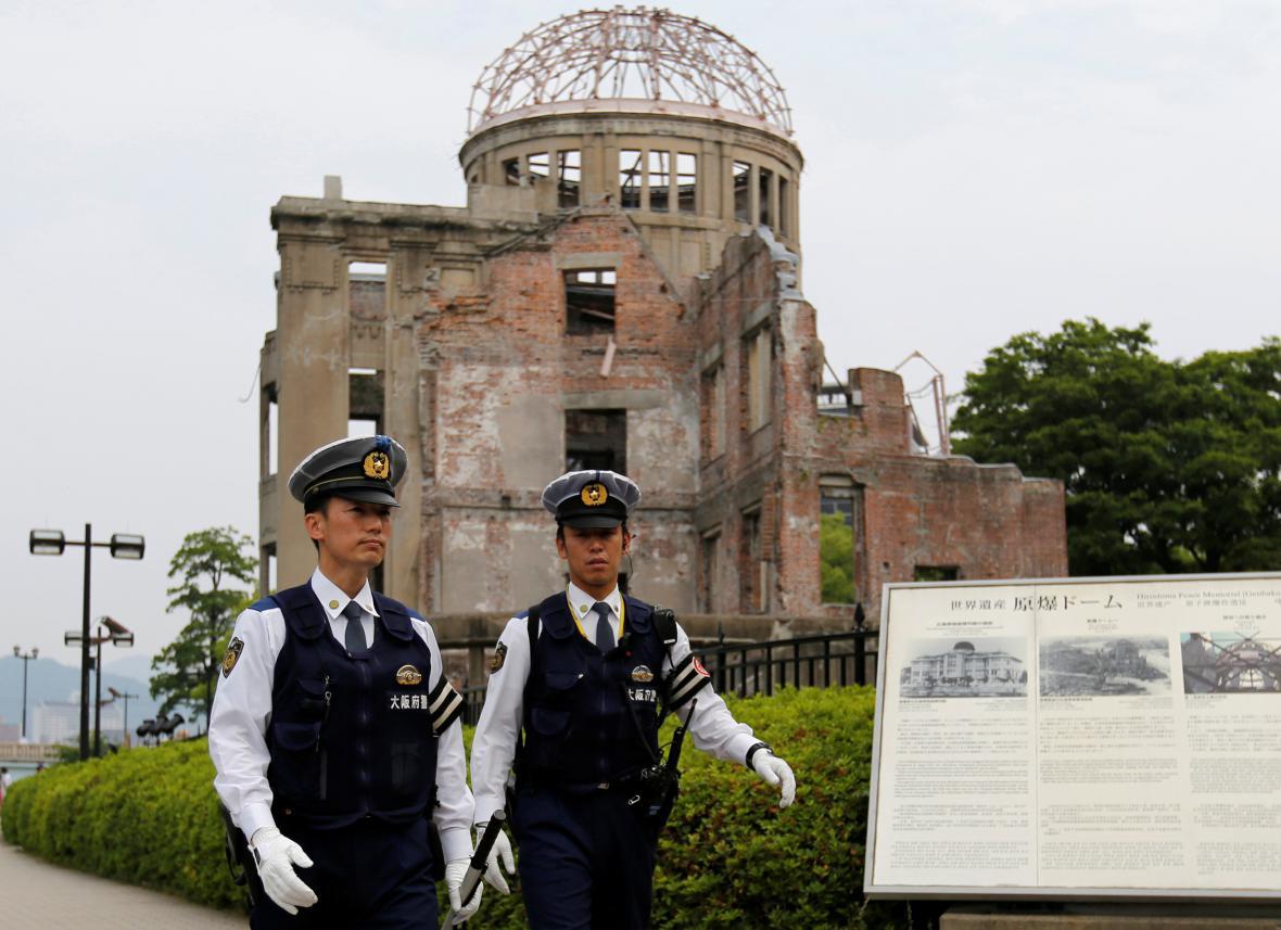 Bezpčnostní opatření před příjezdem Obamy do Hirošimy