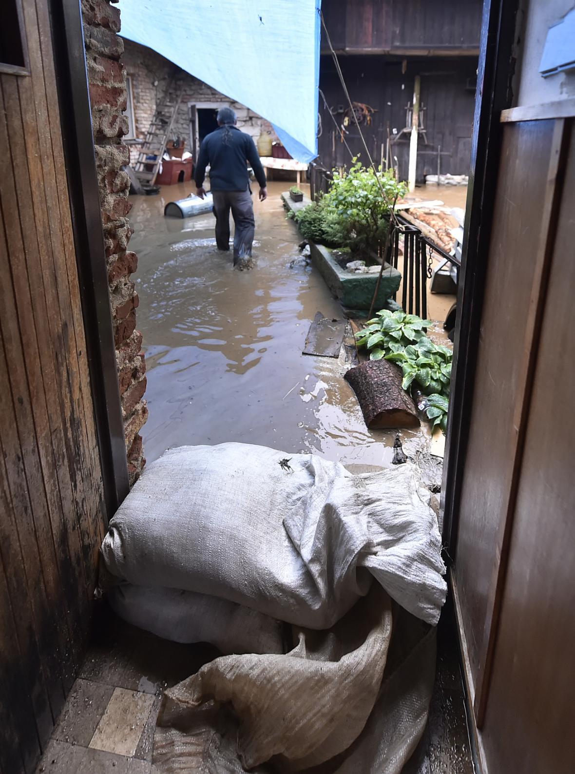 Blesková povodeň v Novém Rychnově
