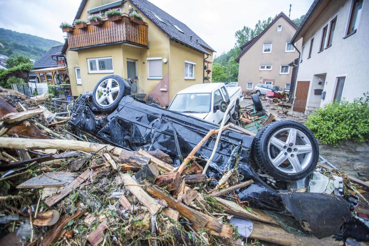 Záplavy v bavorském Braunsbachu