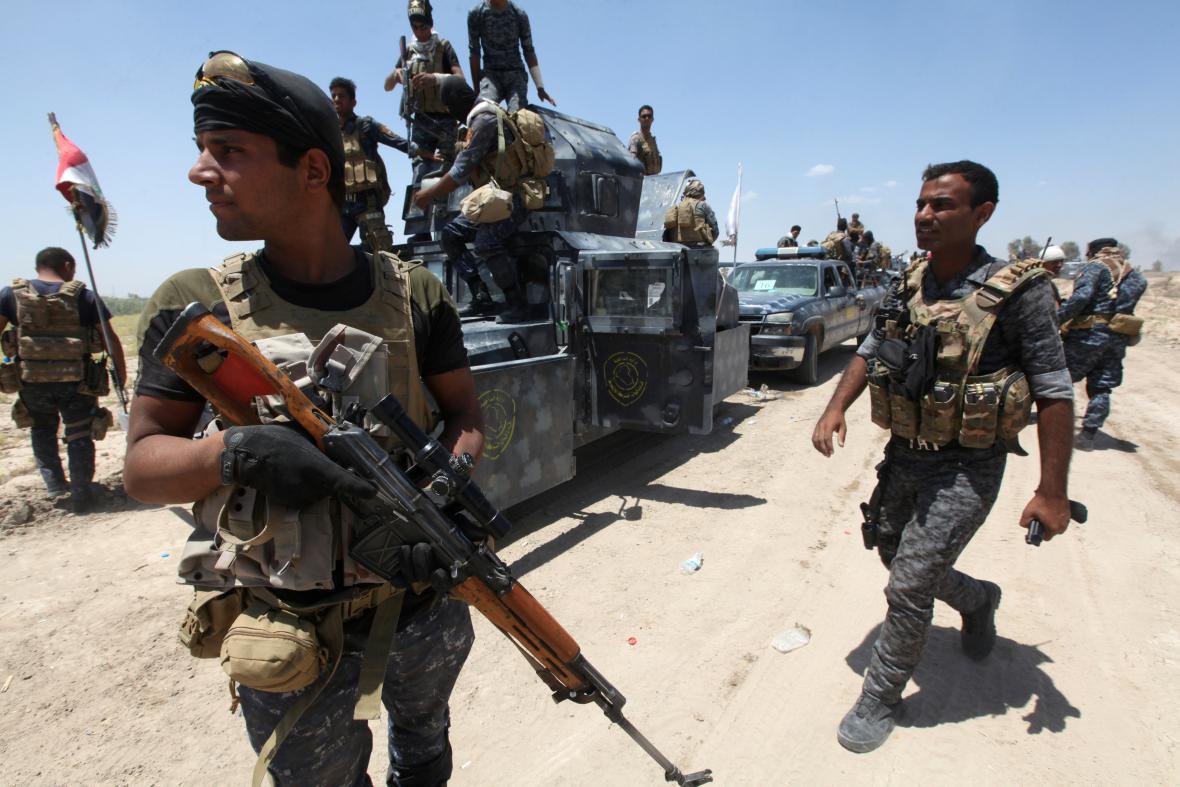 Irácké bezpečnostní síly u Fallúdži