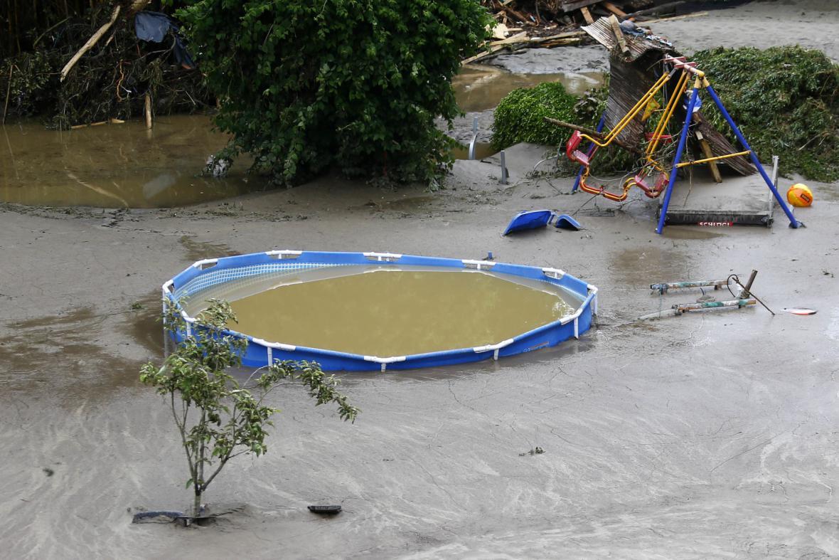Záplavy v Bavorsku, situace v obci Simmbach am Inn