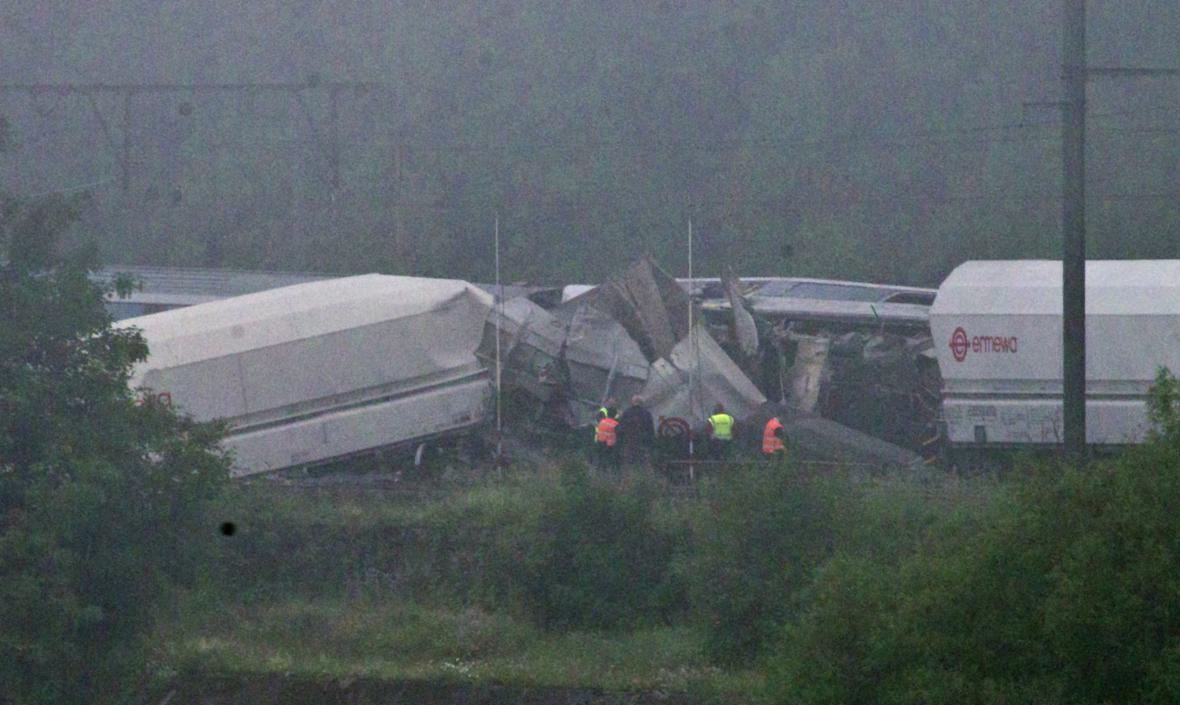 Srážka vlaků v Belgii