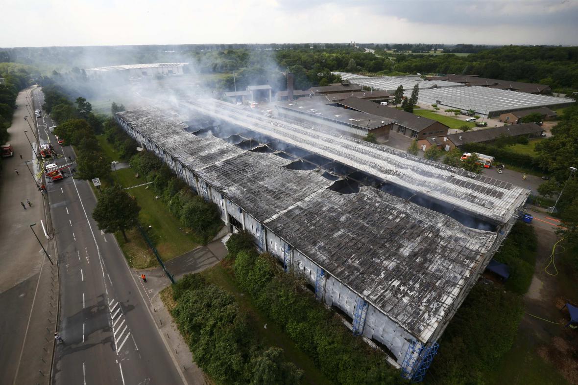 Požár ubytovny v Düsseldorfu