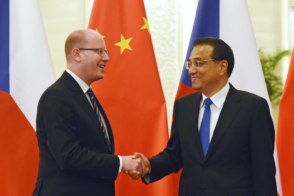 Bohuslav Sobotka a Li Kche-čchiang