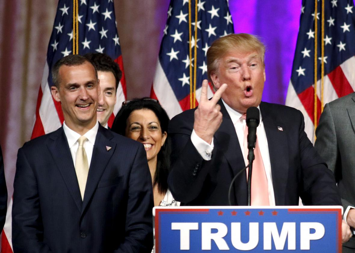 Corey Lewandowski a Donald Trump