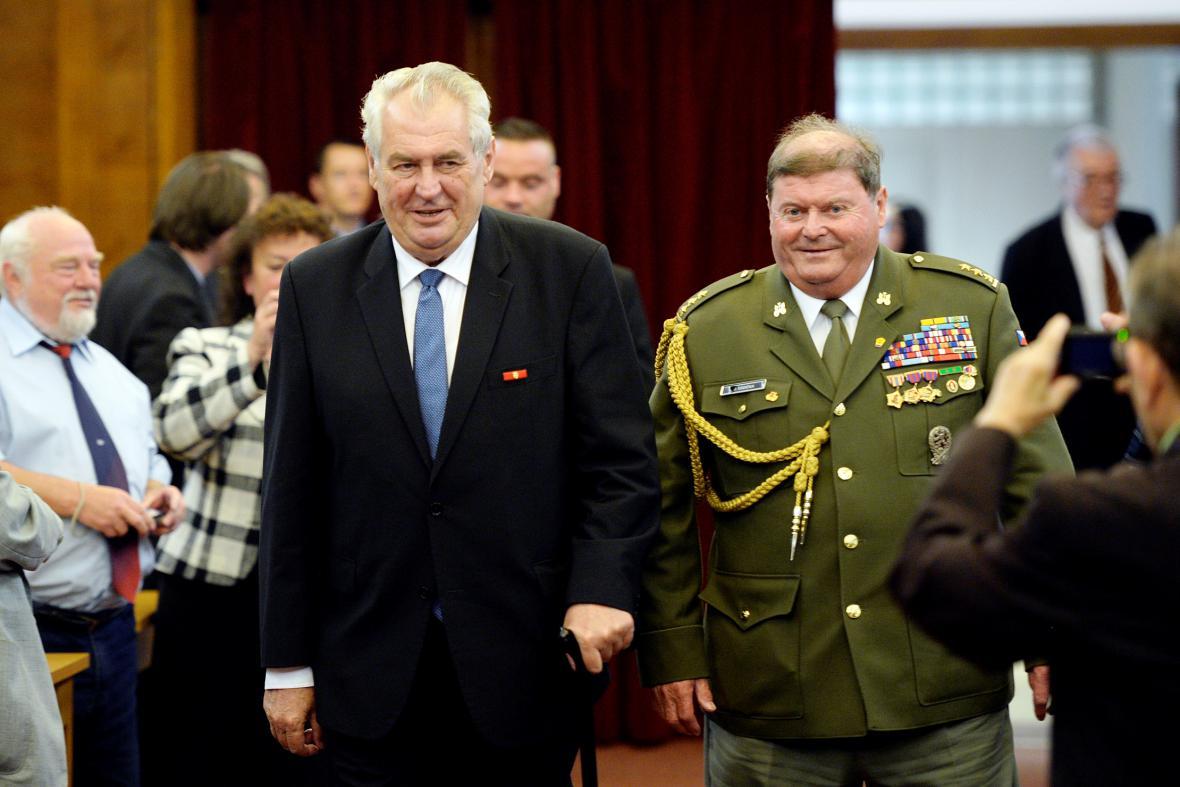 Miloš Zeman na sjezdu Svazu bojovníku za svobodu