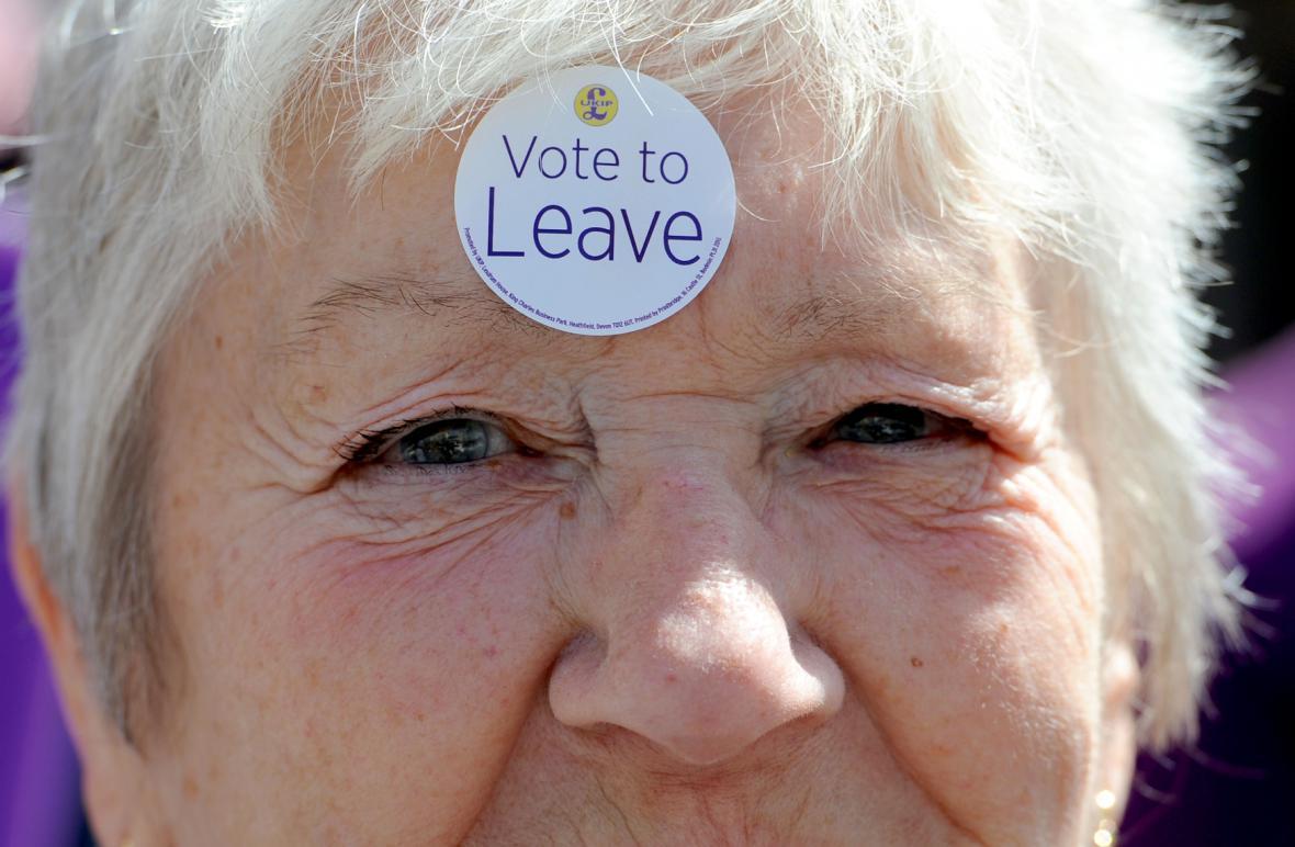 Britské referendum o brexitu hýbe Evropou i celým světem. Na snímku mladí podporovatelé spojení Británie s Evropskou unií před Braniborskou bránou v Berlíně