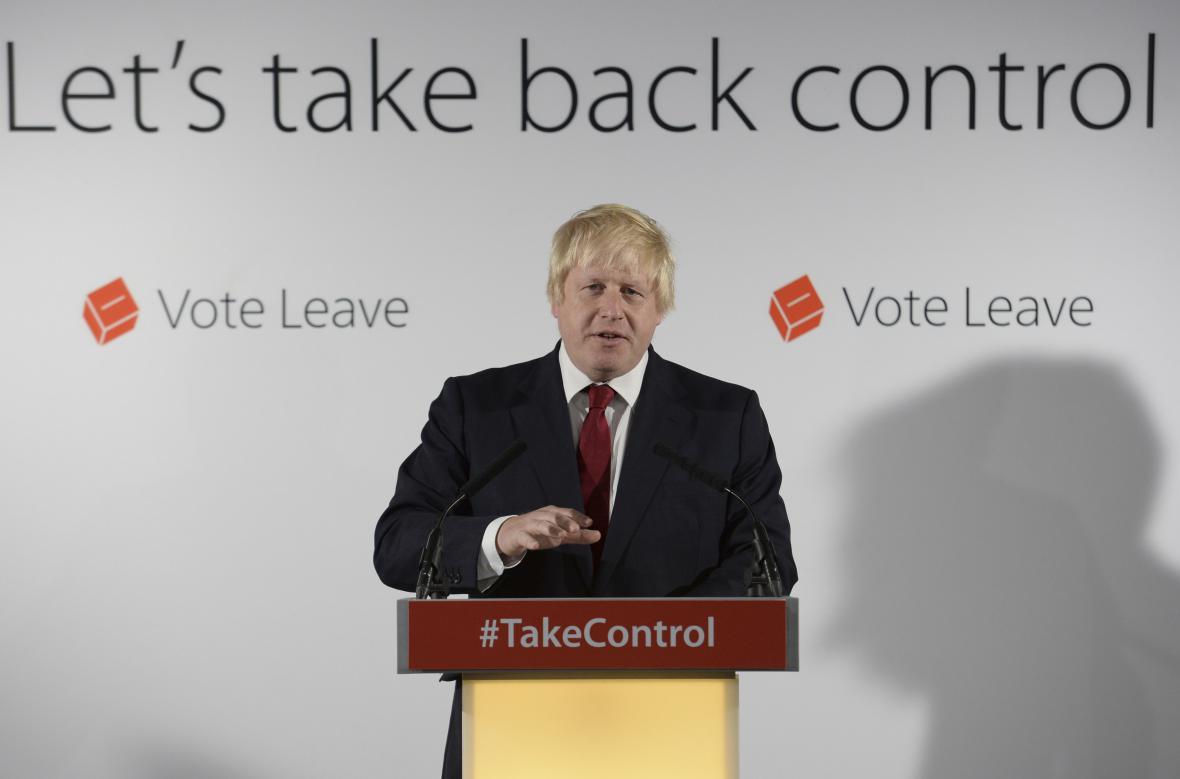 Londýnský exstarosta Boris Johnson