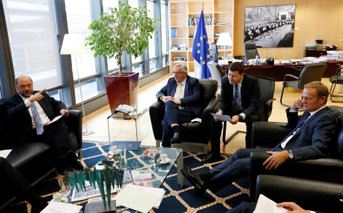 Představitelé unijních institucí