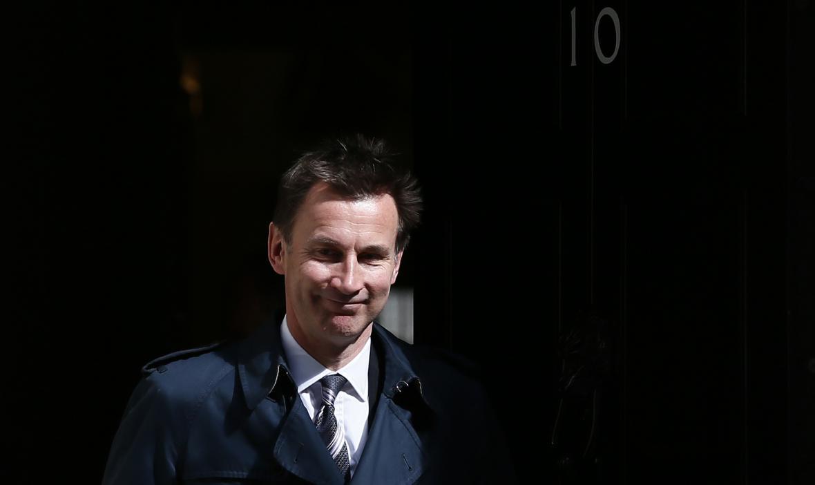 Britský ministr zdravotnictví Jeremy Hunt