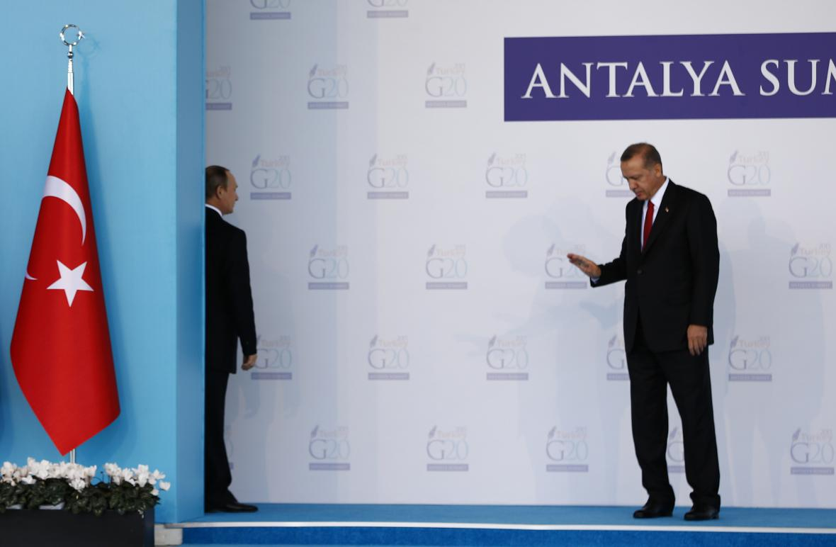 Putin a Erdogan na archivním snímku