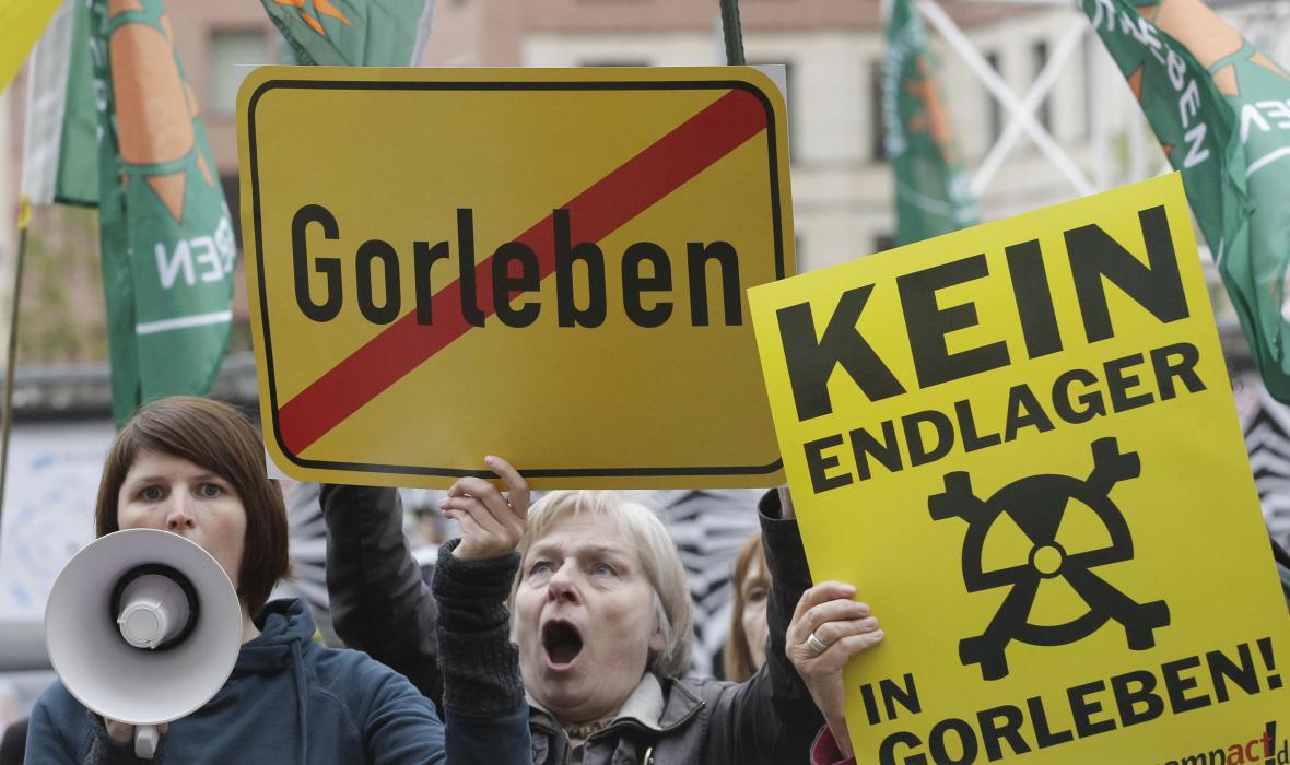 Protesty proti uložišti jaderného odpadu