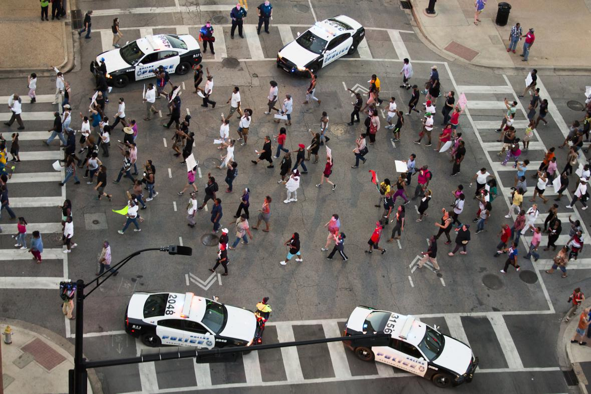 Demonstrace v Dallasu