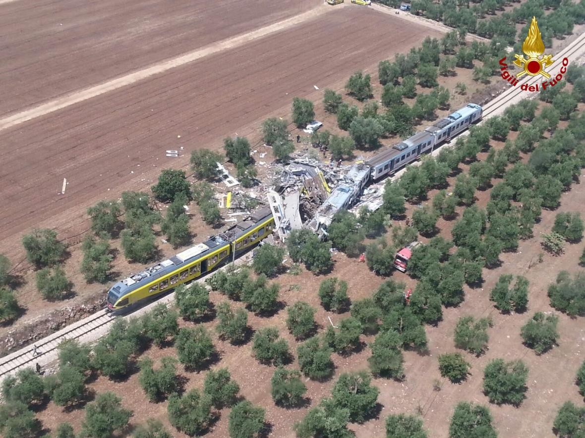 Srážka vlaků v Itálii