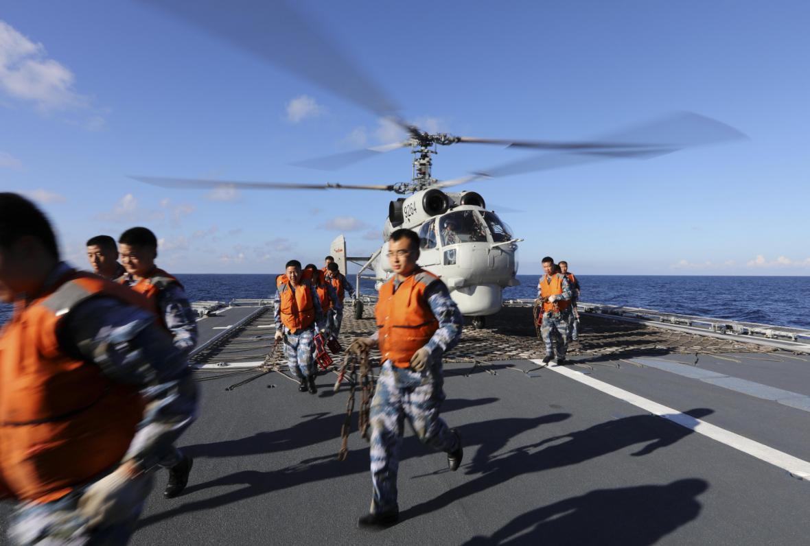 Čínská loď v Jihočínském moři