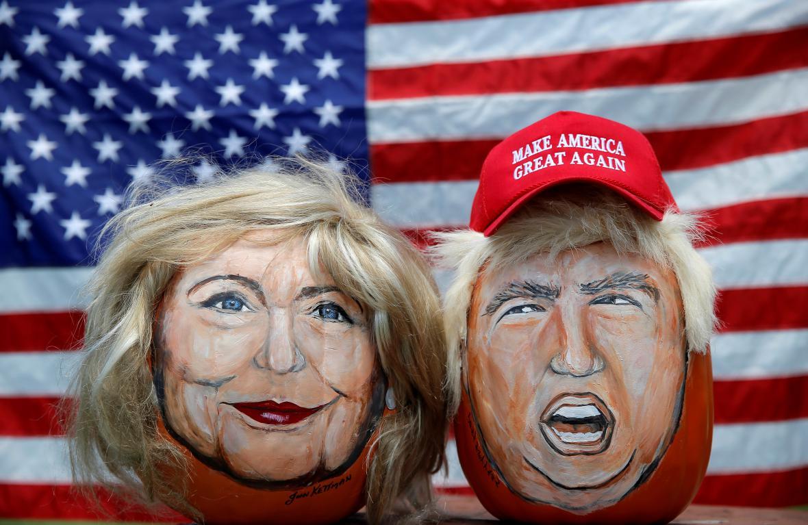 Karikatury dvou uchazečů o Bílý dům