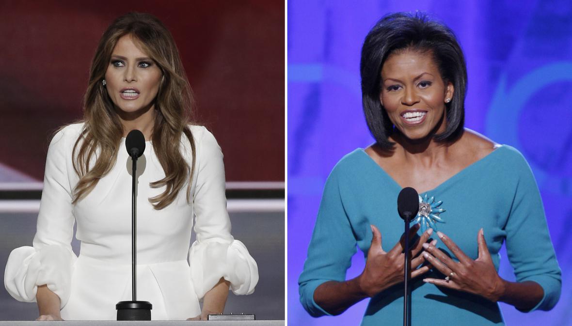 Melania Cruzová a Michelle Obamová