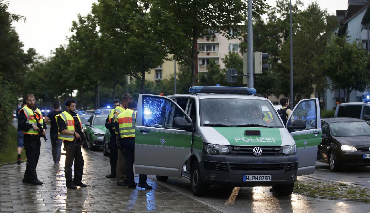 Bezpečnostní síly v ulicích Mnichova