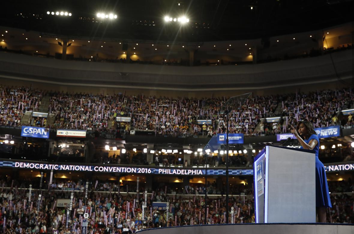 Michelle Obamová si získala publikum emotivním projevem