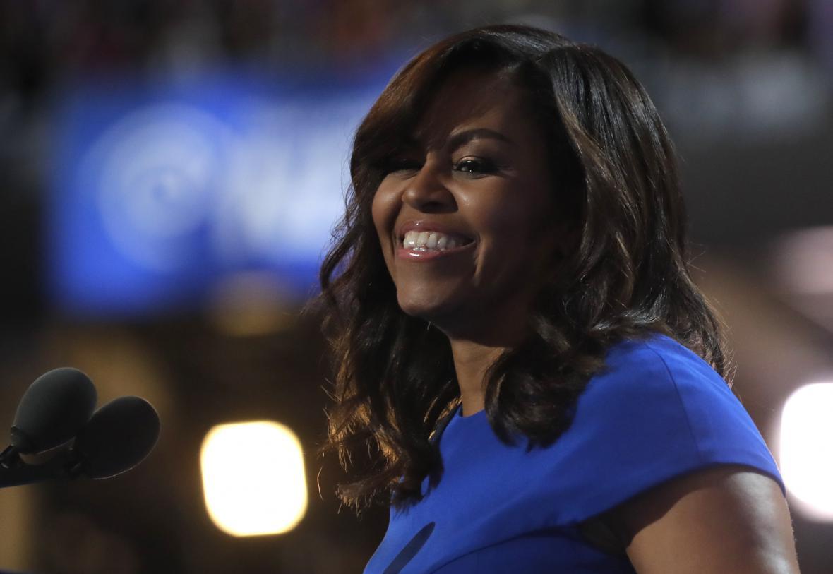 Michelle Obamová si získala pozornosdt prvního dne emotivním projevem