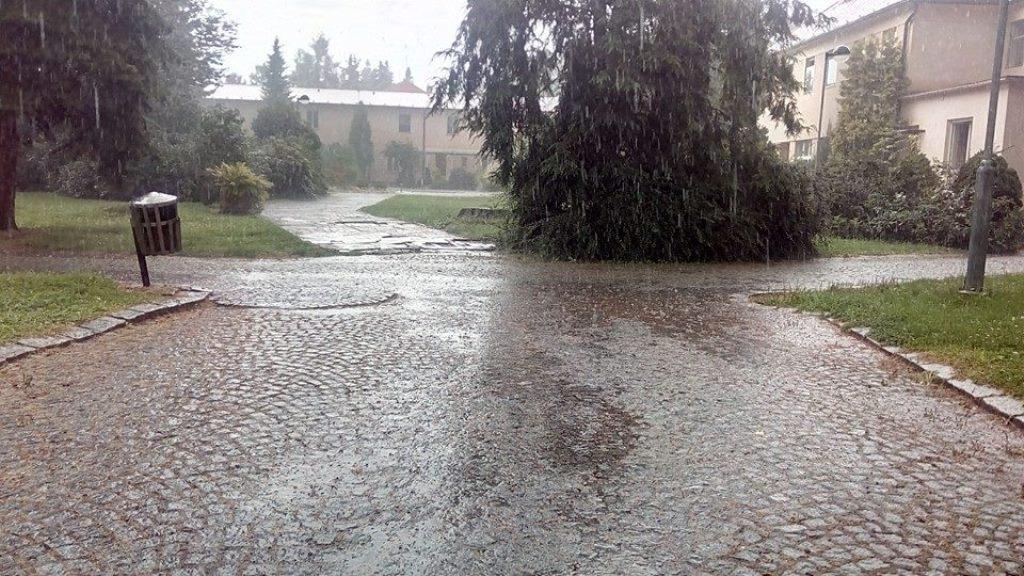 Déšť v Lázních Bludov