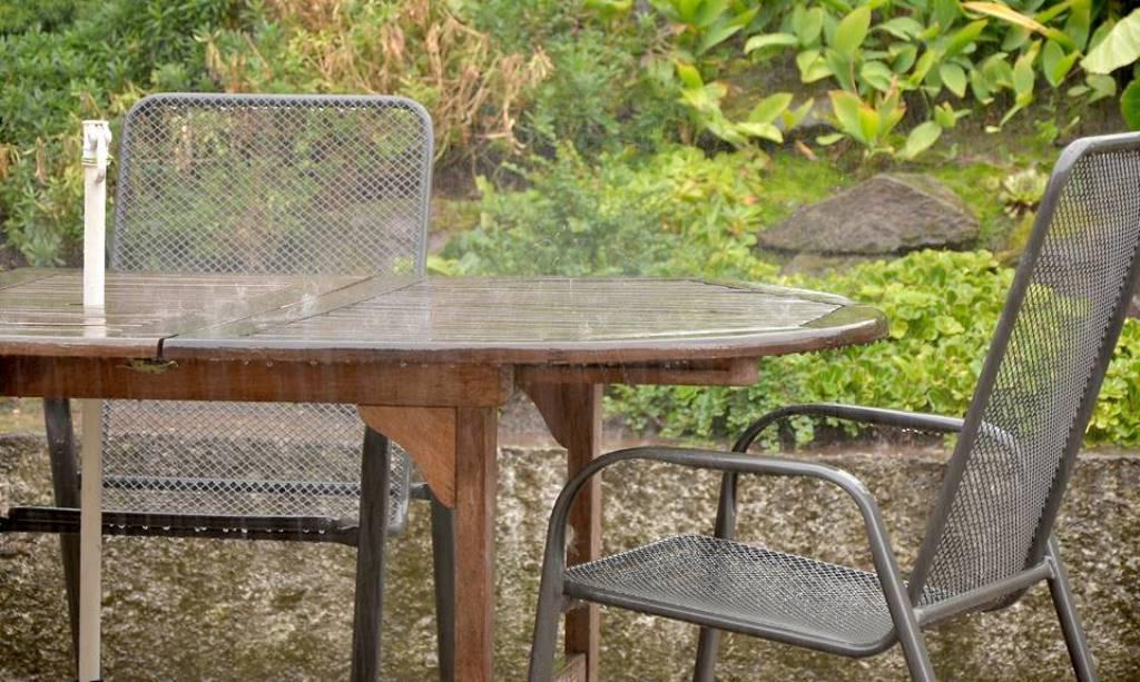 Déšť v Babí u Náchoda