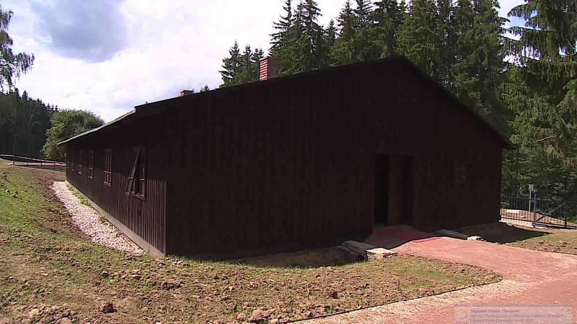 Současná podoba bývalého internačního  tábora v Hodoníně u Kunštátu