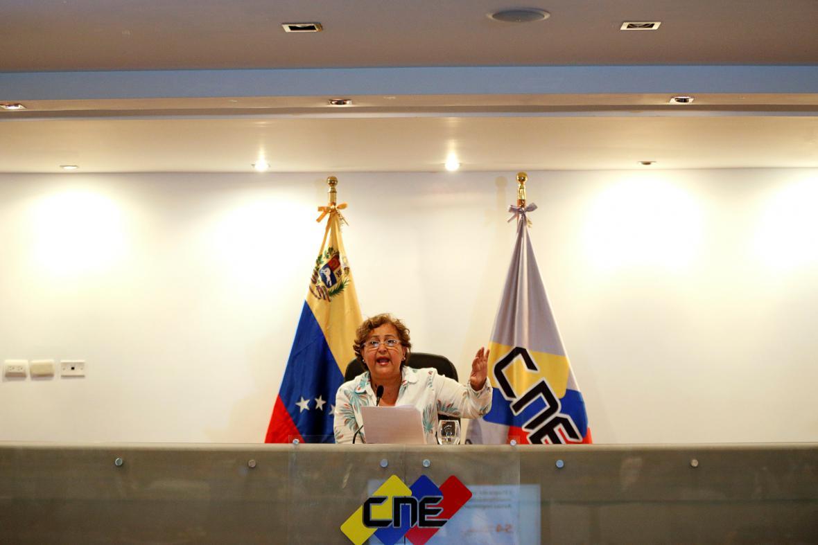 Předsedkyně volební komise Tibisay Lucenaová