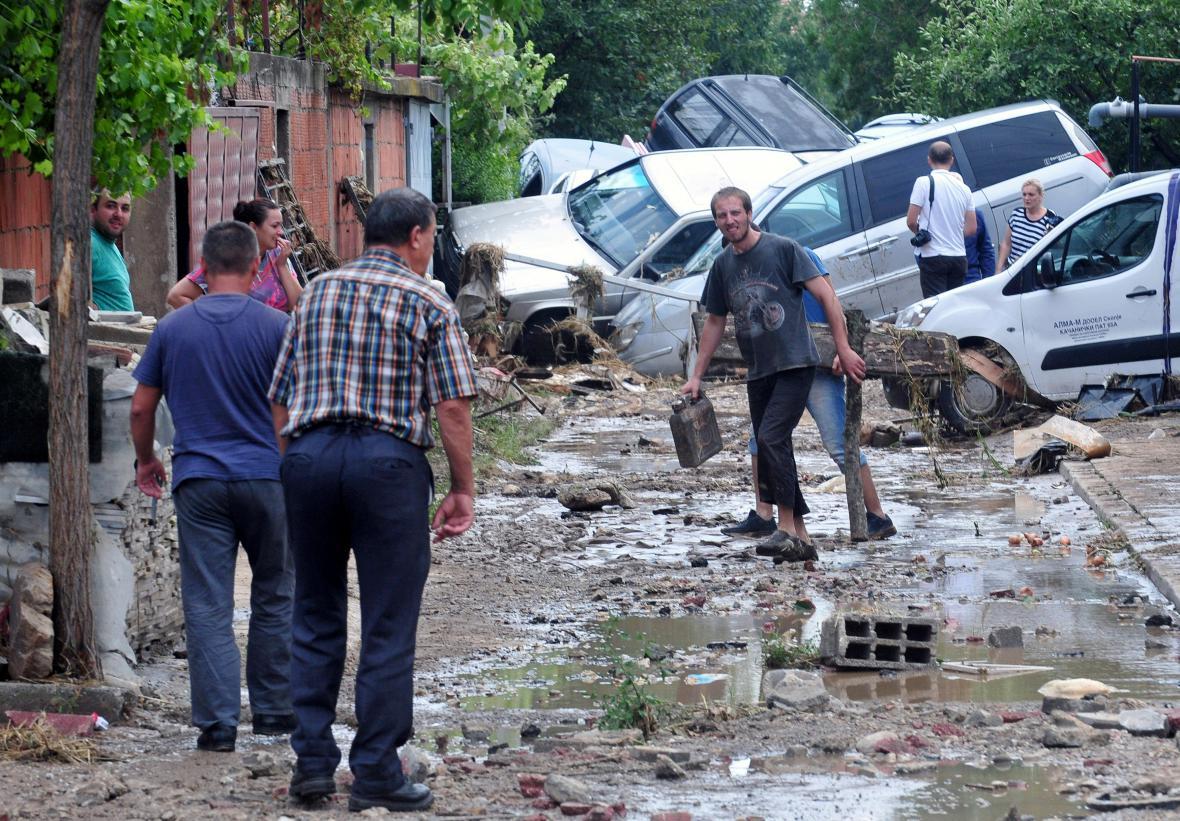 Makedonii zasáhla povodeň