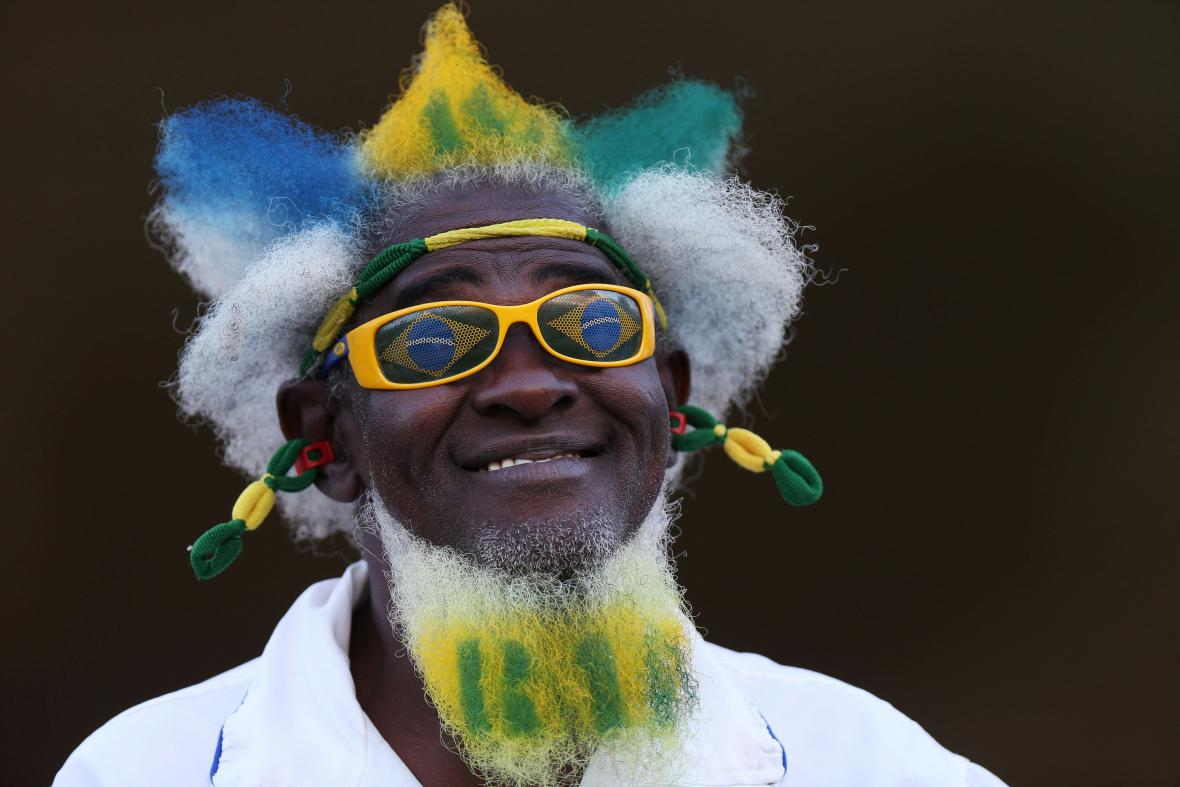 Fanoušek brazilského fotbalového týmu