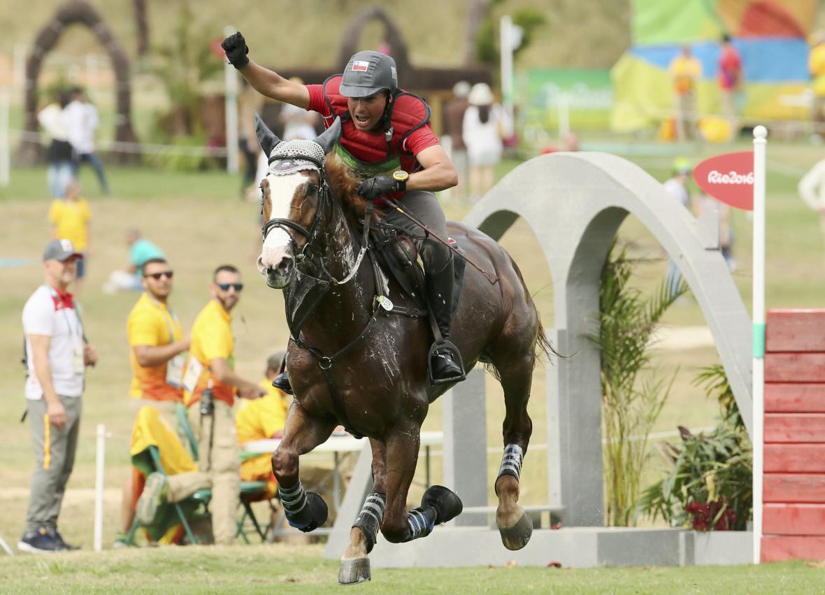 Jezdectví a radost Chilana Muňoze v soutěži ve všestrannosti