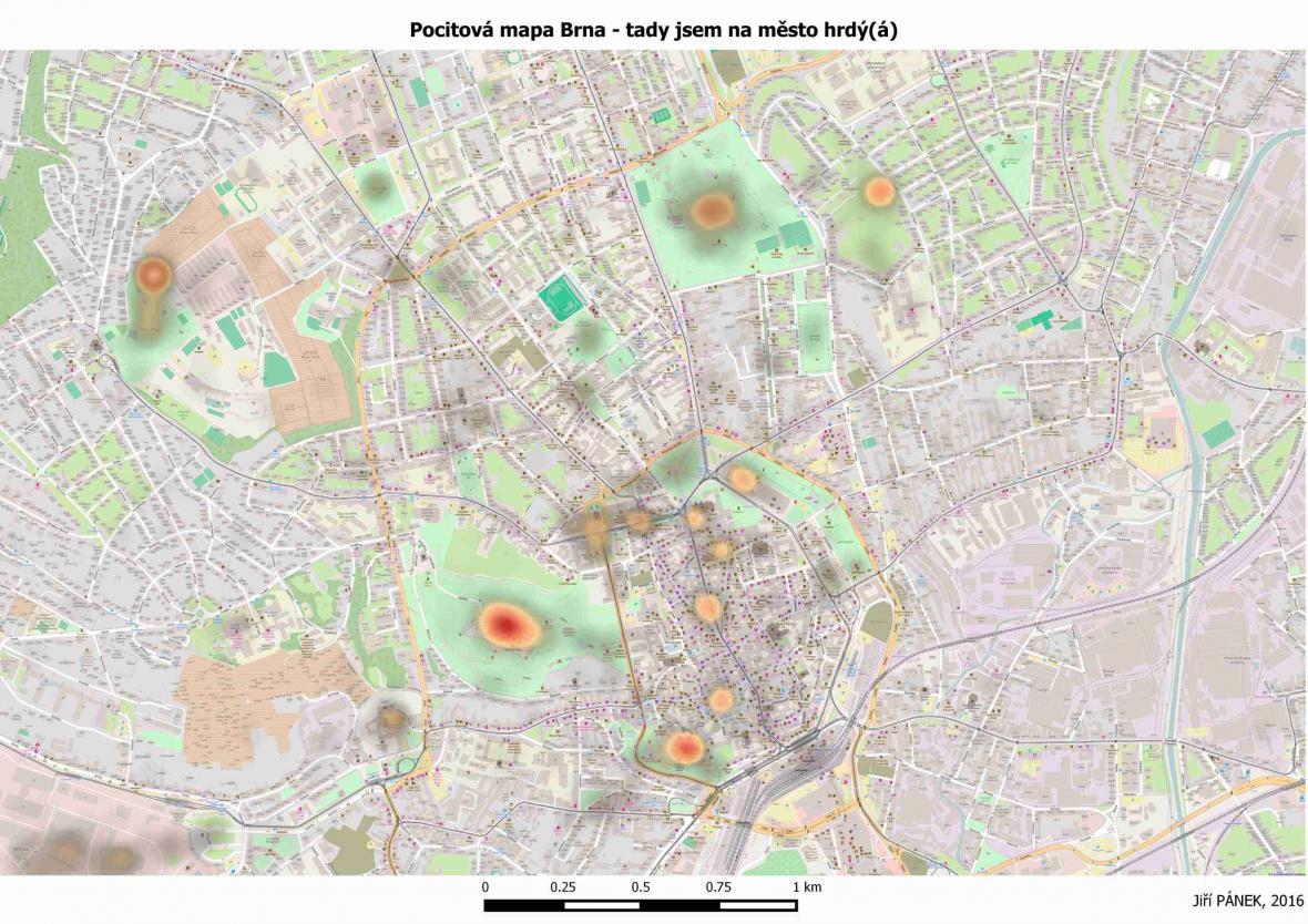 Pocitová mapa města Brna