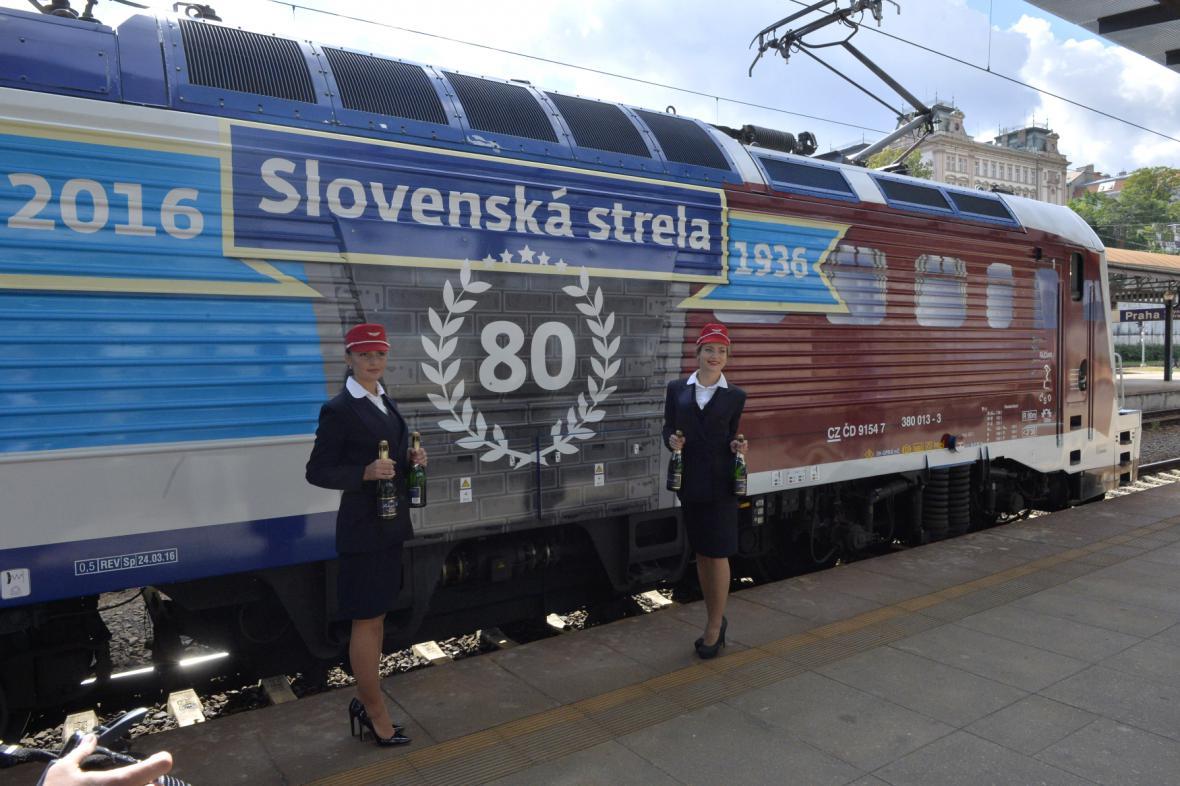 Lokomotiva připomíná 80 let Slovenské strely