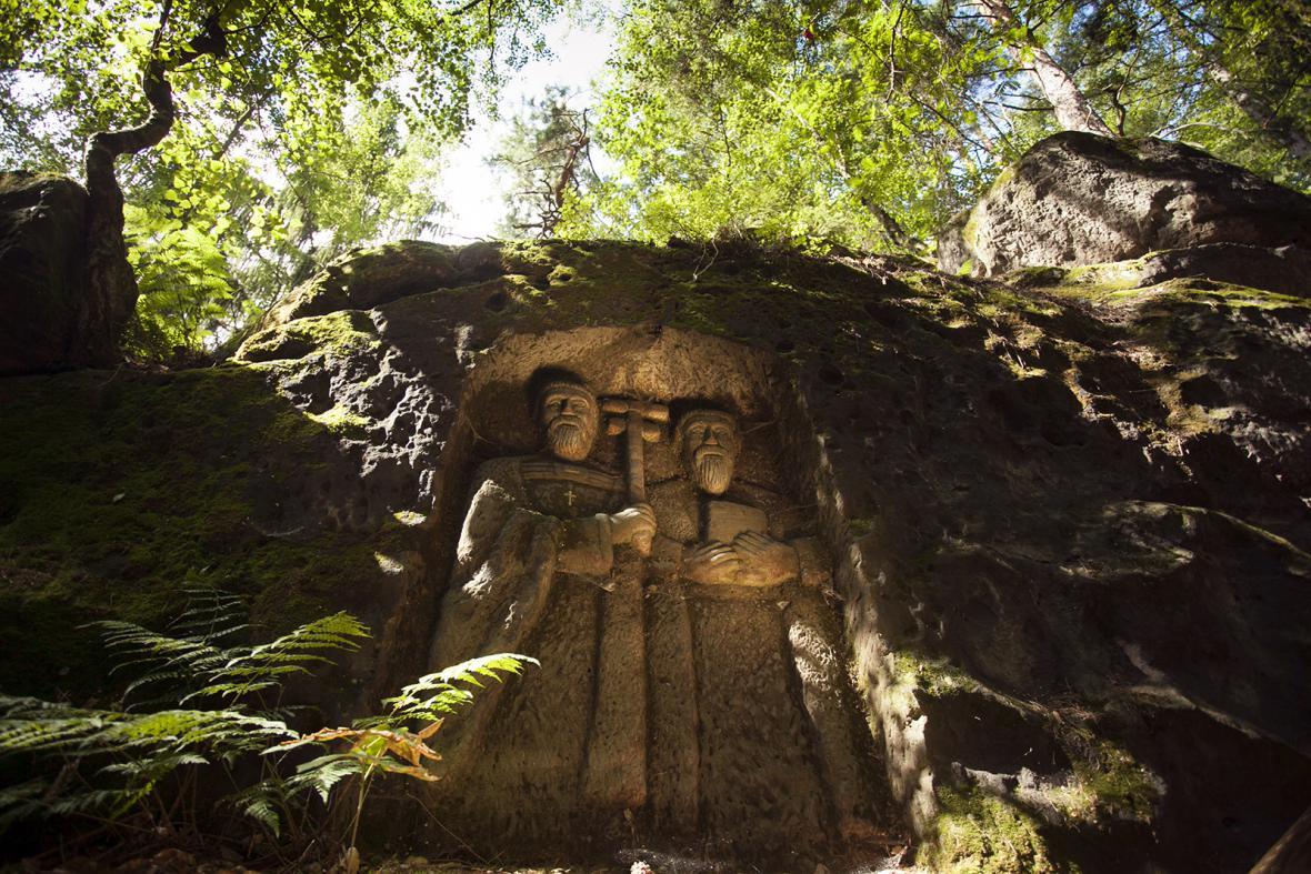Skalní reliéfy Vojtěcha Kopice