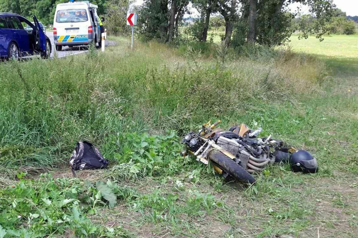 Havárie motorkáře u Svatobořic-Mistřína