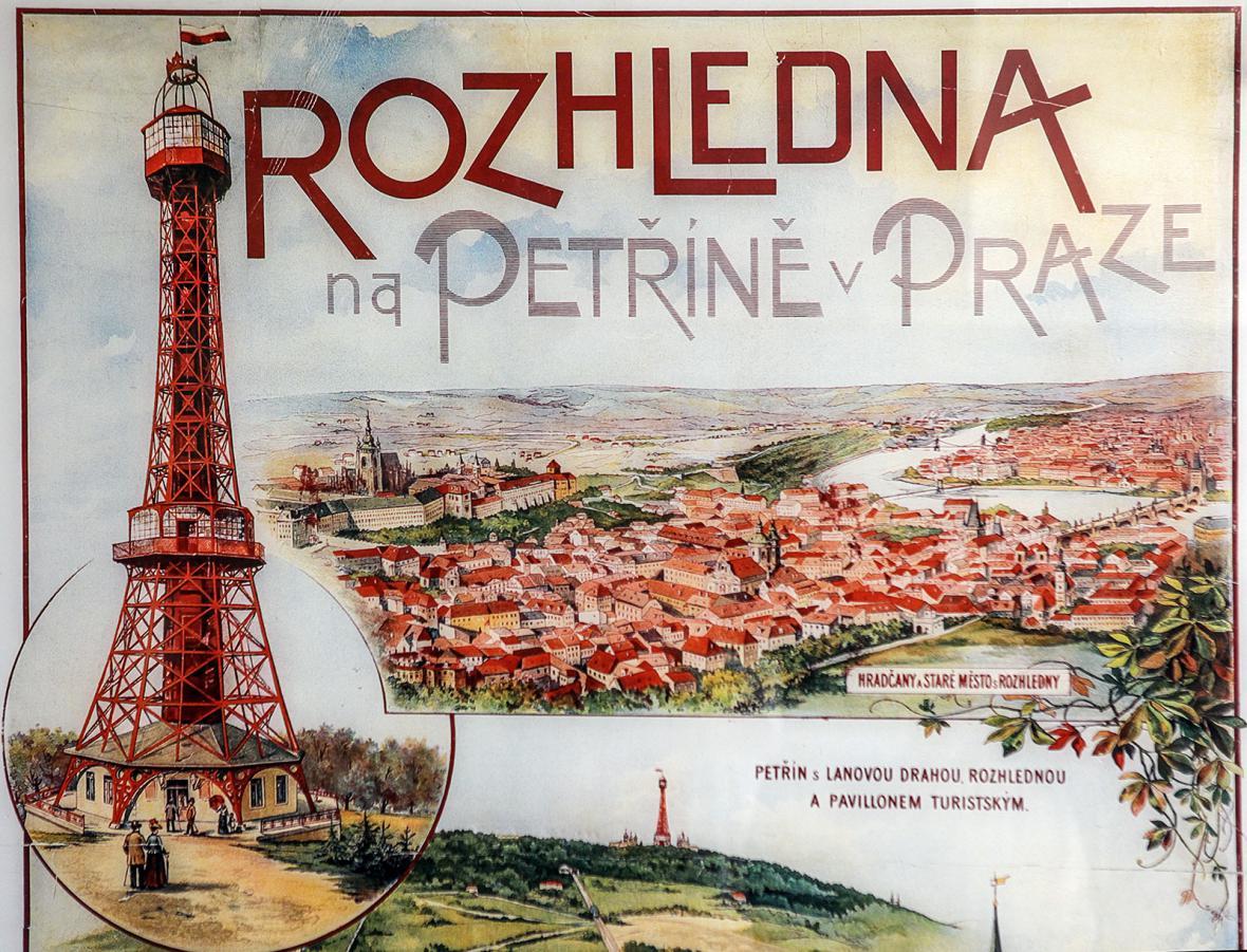 Noční pohled na Petřínskou rozhlednu dnes. Podívejte se, jak šel čas s českou Eiffelovkou za posledních 125 let.